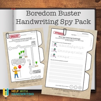 Boredom Buster Handwriting Spy Pack