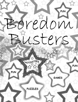 """""""Boredom Busters"""" Binder Cover Insert"""