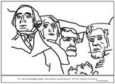Borglum, Gutzon.  Mount Rushmore.  Coloring page & lesson plan ideas