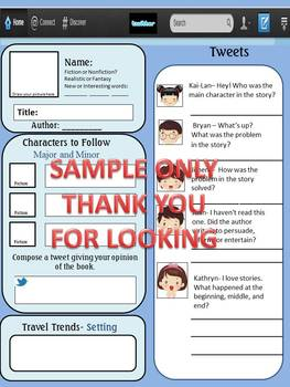 Boring Book Reports no More-- Now with TWITTER! Fun and engaging!