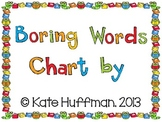 Boring / Illegal Words Writing Binder or Class Wall Chart