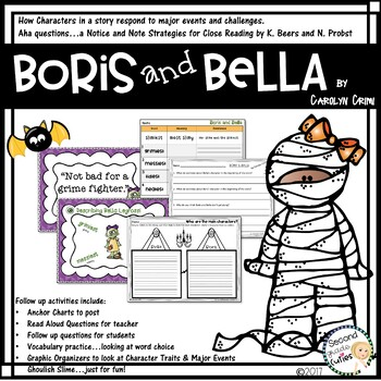 Boris and Bella Characters, lessons learned, Halloween activities