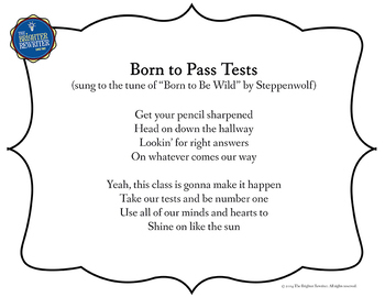 Testing Song Lyrics for Born to Be Wild