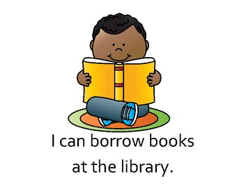Borrowing Books at the Library