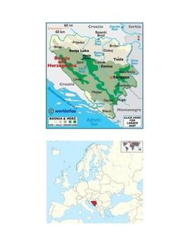 Bosnia and Herzegovina Map Scavenger Hunt