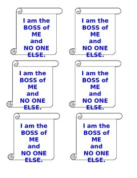 """Boss of Me"" Visual Reminders"