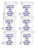 """Boss of Me"" Visual Reminders"
