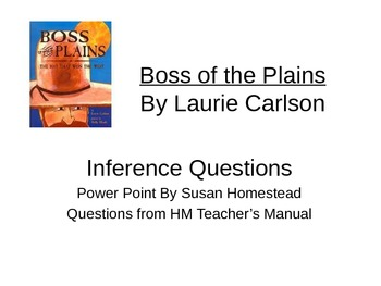 Boss of the Plains Inference Questions HM Theme 2