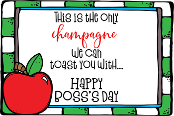 Boss's Day Gift Tag