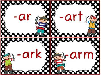 Bossy Arrr! –ar spelling Bossy-R Sort Word Work Center