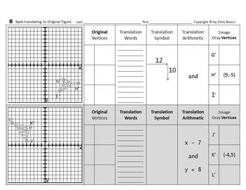 Brocci Bundles: Transformations - Translations Bundle (3 L, 11 WS, 214 Problems)