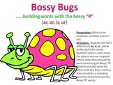 Bossy Bug - building words with the controlled R-ar, ir, ur, or