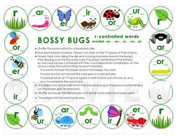 Bossy Bugs: ar, er, ir, or, ur