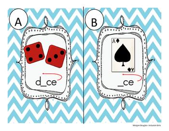 Bossy E / Magic E/  Sneaky E {CVCE read the room or Scoot Game}