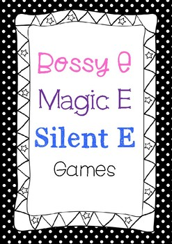 Bossy E, Magic E, Silent E game cards