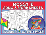 Bossy E Worksheets (Final E Words) and Song |  NO PREP - H