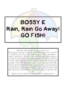 Bossy E   Rain, Rain Go Away! GO Fish!