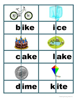 Bossy E Word Building Cards