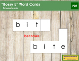 """Bossy E"" Word Cards"