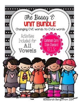 Bossy E BUNDLE - CVCe Spelling Pattern