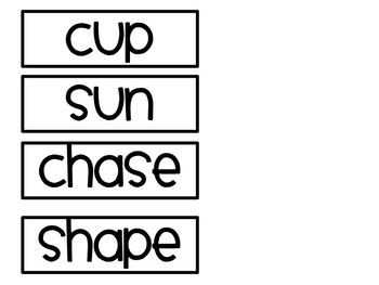 Bossy E and CVC Word Sort