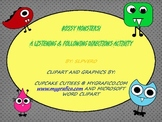 Bossy Monsters Following Directions Activity