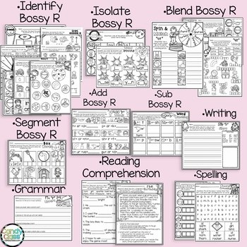 Bossy R No Prep Activities: Phonics Worksheets Back to School Morning Work