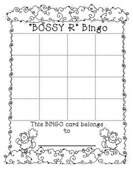 Bossy R Bingo