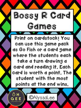 Bossy R Card Games- Orton Gillingham Aligned