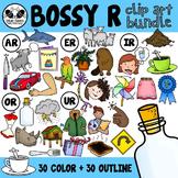 Bossy R Clip Art Bundle