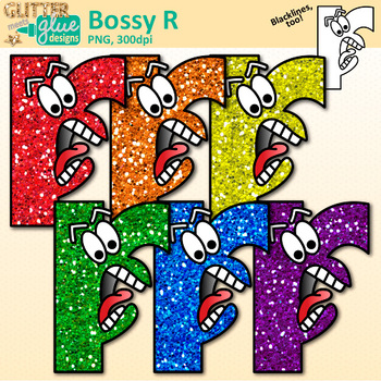 Bossy R Clip Art | Free Clipart for Phonics and Spelling