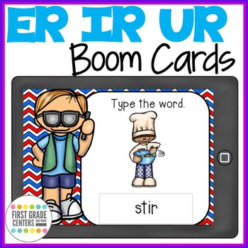 Bossy R  ER IR UR Boom Cards Type the Words