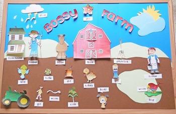 Bossy R Farm Lesson to help teach r-controlled vowels