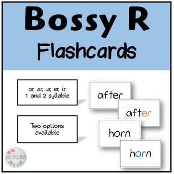 Bossy R Flashcards (ar, ur, er, ir, or)