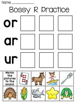 Bossy R Fun Worksheets by Miss Giraffe | Teachers Pay Teachers