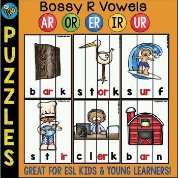 Bossy R Game: Puzzles for Young Learners and ESL Kids