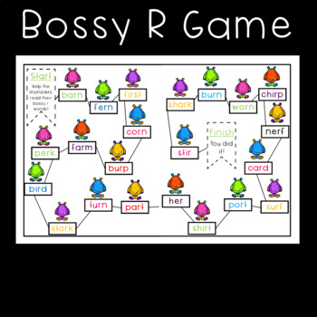 Bossy R Game, Sorts, Worksheets