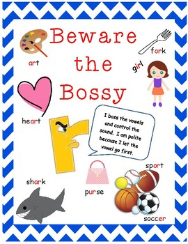 Bossy R Handout or Poster