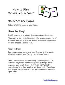 Bossy R Leprechaun Game