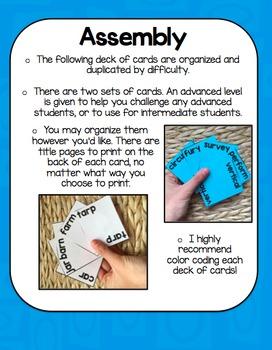 Bossy R Literacy Center Game: Go Fish