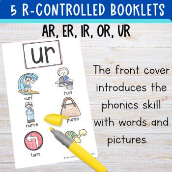 Bossy R: Minibooks {ar, or, er, ir, ur}