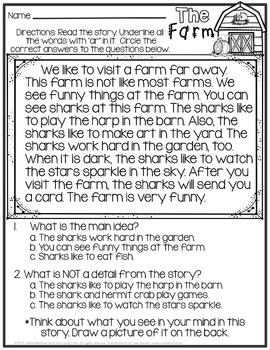 Bossy R No Prep Printable Sample (R Controlled Vowels)