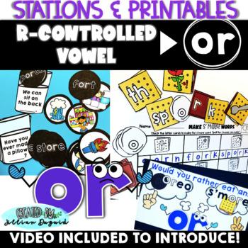 Bossy R (or, ore) Phonics Activities - QR Code Hunt, Aroun