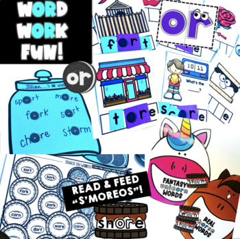 Bossy R (or, ore) Phonics Activities - QR Code Hunt, Around the Room & more!