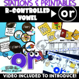 Bossy R (or, ore) Phonics Activities - QR Code Hunt, Write the Room & more!