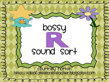 Bossy R Picture and Word Sort with Sorting Mats