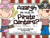 Bossy R Pirate Centers (a mini unit to teach the /ar/ spel