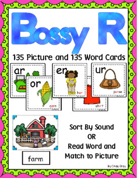 Bossy R Pocket Chart Sort with Matching Word Cards