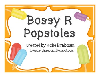 Bossy R Popsicles Word Sort