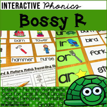 Bossy R Activities-Posters, Sorts & Worksheets